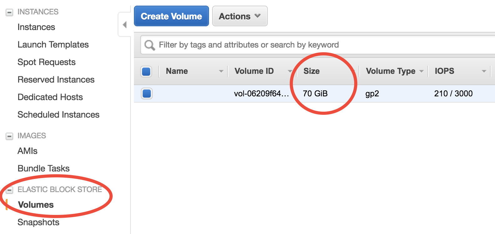 Use EBS volumes as temporary disk storage — GEOS-Chem on cloud
